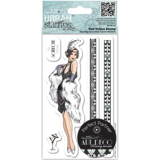 Papermania Art Deco Tall Urban Stamps-Flapper