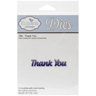 Elizabeth Craft Metal Die-Thank You
