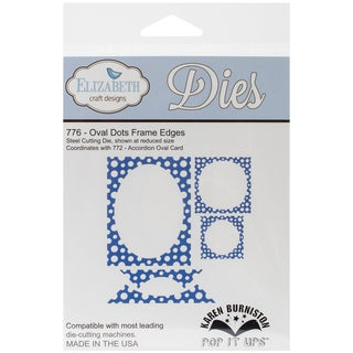 Elizabeth Craft Pop It Up Metal Dies By Karen Burniston-Oval Dots Frame Edges