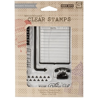 Basic Grey Capture Clear Stamps By Hero Arts-The Details