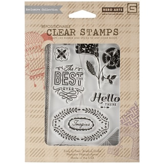 Basic Grey Spice Market Clear Stamps By Hero Arts-Best Time Ever