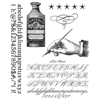 """Tim Holtz Cling Rubber Stamp Set 7""""X8.5""""-Typegraphy"""