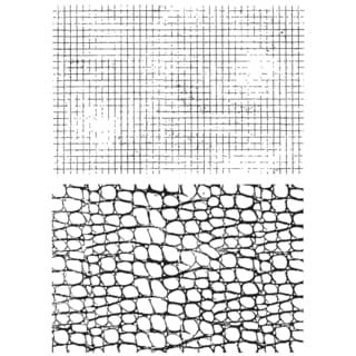 "Tim Holtz Cling Rubber Stamp Set 7""X8.5""-Graph & Croc"
