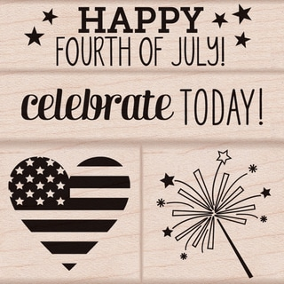 "Hero Arts Mounted Rubber Stamp Set 3""X3""-4th Of July"