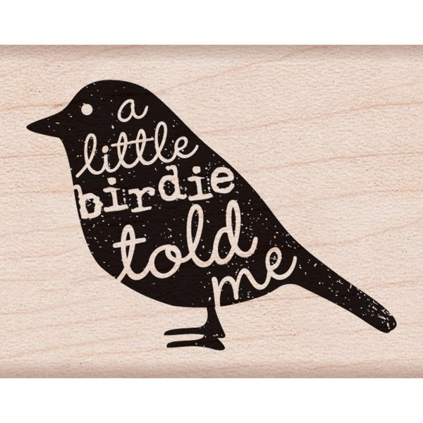 """Hero Arts Mounted Rubber Stamps 2""""X1.75""""-Birdie Told Me"""