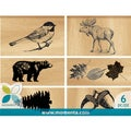 Momenta Mounted Stamp Set 6pcs-Outdoors