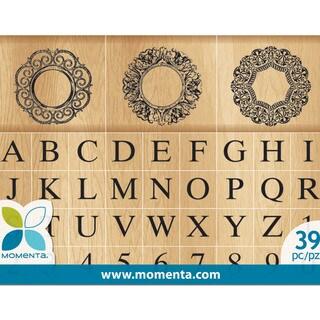 Momenta Mounted Stamp Set 36pcs-Monogram Alphabet