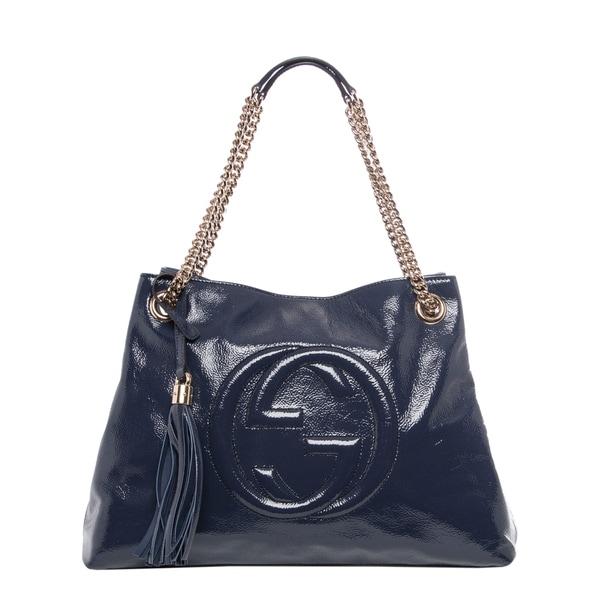 Gucci Soho Blue Leather Shoulder Bag Jenna Shoulder Bag