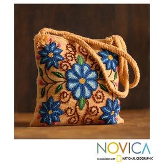 Handcrafted Wool 'Andean Mosaic' Shoulder Bag (Peru)