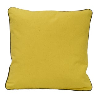 Solid Yellow Organic Cotton Throw Pillow (Set of 2)