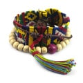 Handcrafted Cotton 'Almolonga Heritage' Bracelet (Guatemala)