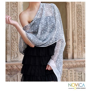 Silk 'Star of India' Shawl (India)
