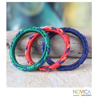 Set of 3 Handcrafted Polypropylene 'Akan Valley' Bracelets (Ghana)