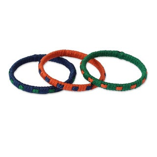Set of 3 Handcrafted Polypropylene 'Akan Belle' Bracelets (Ghana)