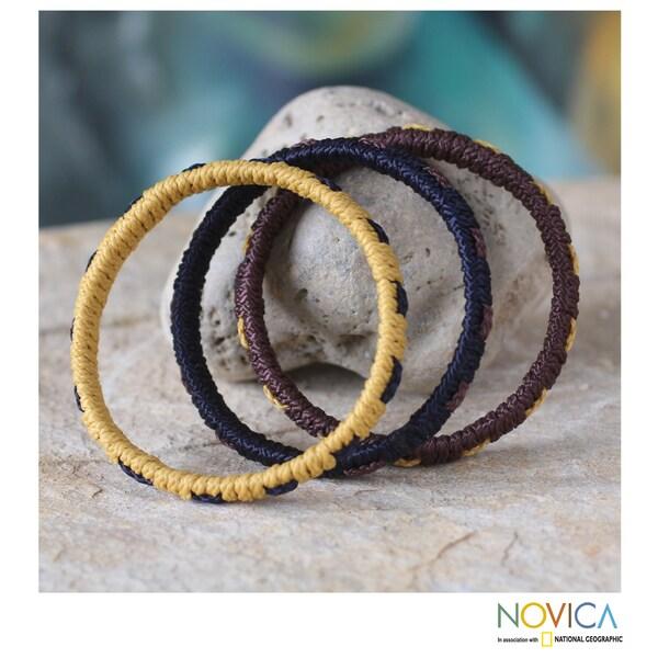 Set of 3 Polypropylene 'Ocean Akan Enigma' Bracele