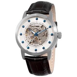 Stuhrling Original Men's Delphi Helios Automatic Leather Strap Watch