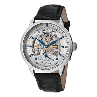 Stuhrling Original Men's Executive Automatic Leather Strap Watch