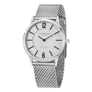 Stuhrling Original Men's Somerset Elite Swiss Quartz Stainless steel Bracelet Watch