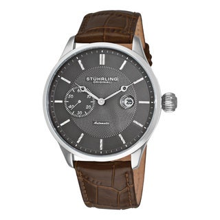 Stuhrling Original Men's Heritage Classic Automatic Leather Strap Watch