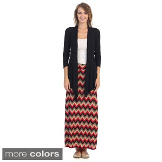 Hadari Printed Geometric Maxi Skirt