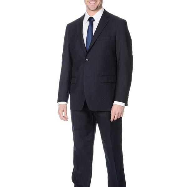 Pronto Men's Slim Fit 'Wool Max' Navy Wool Blend 2-piece Suit