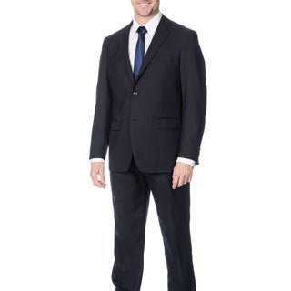 Pronto Men's Slim Fit 'Wool Max' Navy Wool Blend 2-piece Suit