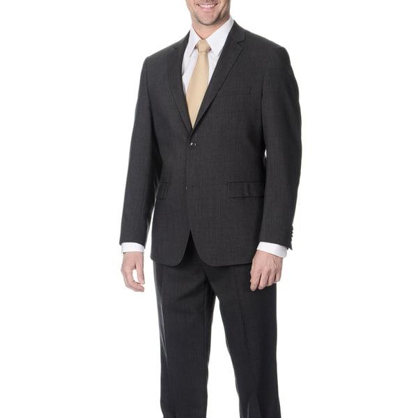 Pronto Men's Slim Fit 'Wool Max' Grey Wool Blend 2-piece Suit