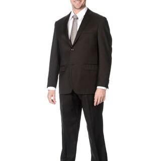 Pronto Men's Slim Fit 'Wool Max' Brown Wool Blend 2-piece Suit