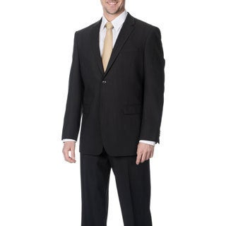 Pronto Men's 'Wool Max' Charcoal Wool Blend 2-piece Suit