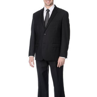 Pronto Men's Black Wool Blend 2-piece Suit