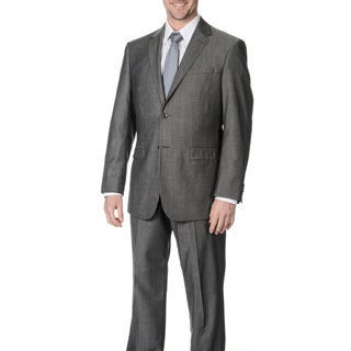 Pronto Men's 'Wool Max' Taupe Wool Blend 2-piece Suit