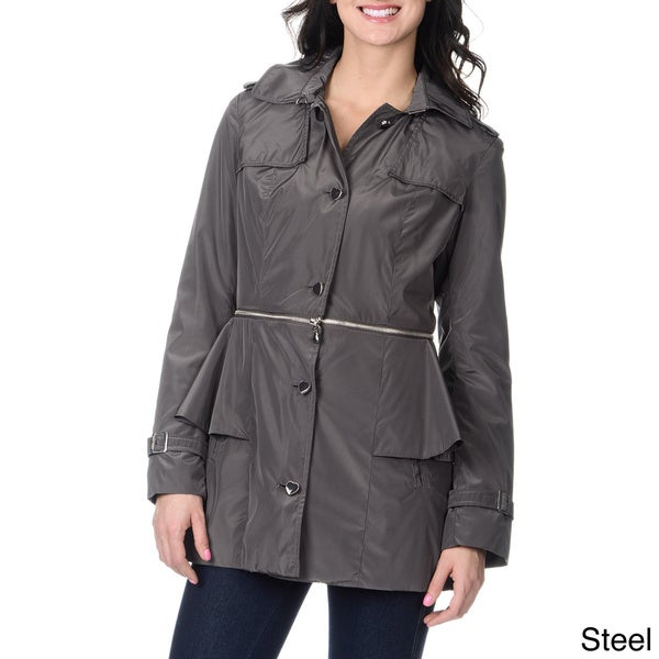 Betsey Johnson Women's Convertible Trench Jacket
