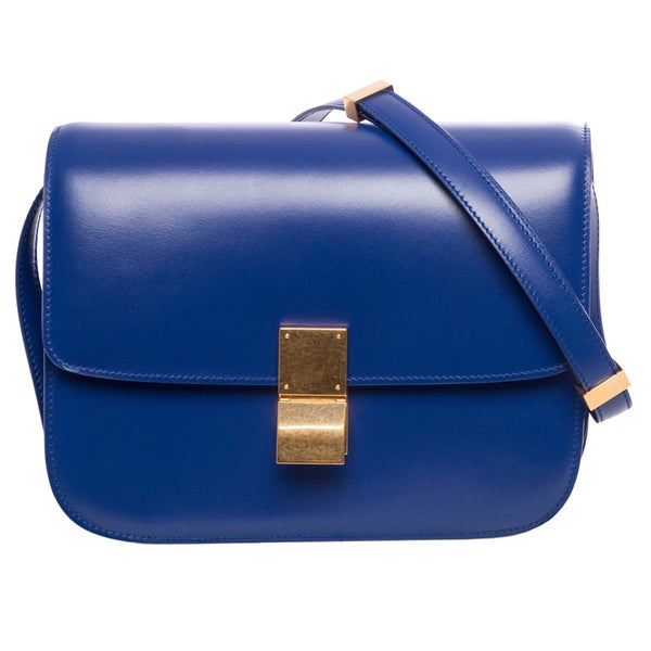 Celine Indigo Smooth Leather Classic Handbag