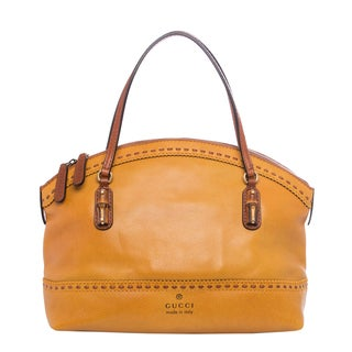 Gucci Laidback Crafty Mustard Leather Satchel