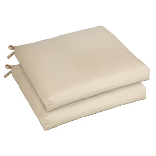 Bristol 19-inch Indoor/ Outdoor Antique Beige Chair Cushion Set with Sunbrella Fabric