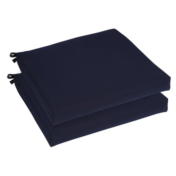 Bristol 19 inch Indoor Outdoor Navy Blue Chair Cushion