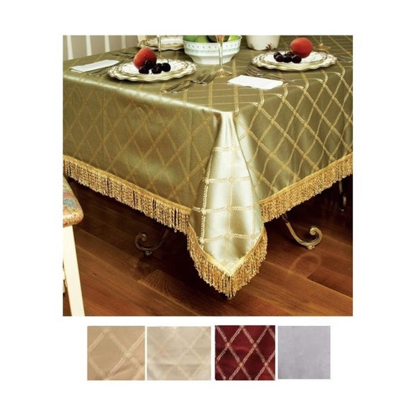 Diamond Damask Design Tablecloth