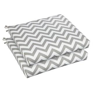 Bristol 19-inch Indoor/ Outdoor Chevron Grey Chair Cushion Set