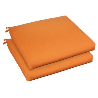 Bristol 20-inch Indoor/ Outdoor Tangerine Chair Cushion Set with Sunbrella Fabric