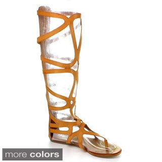 Refresh Women's 'Ongee-04' Gladiator Knee-high Sandals