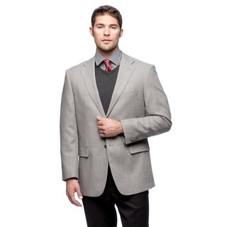 Prontomoda Italia Men's 'Super 140' Light Grey Natural Stretch Wool Jacket