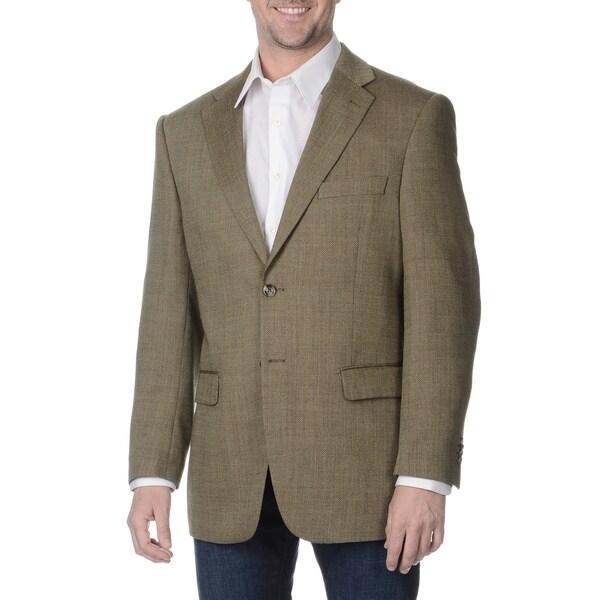 Prontomoda Italia Men's 'Super 140' Taupe Natural Stretch Wool Jacket