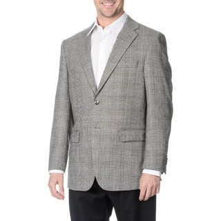 Prontomoda Italia Men's 'Super 140' Black Natural Stretch Wool Jacket