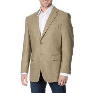 Prontomoda Italia Men's 'Super 140' Tan Natural Stretch Wool Jacket