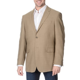 Prontomoda Italia Men's Tan Wool Jacket