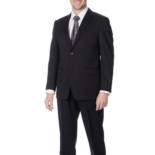 Martino Men's Slim Fit Wool Rich Navy Wool Blend Suit