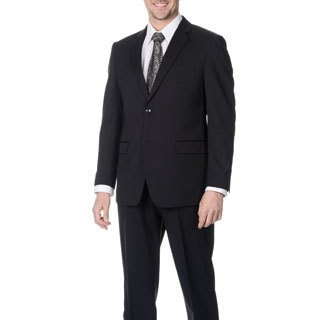 Martino Men's Slim Fit Wool Rich Navy Wool Blend Suit