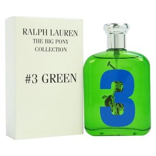Ralph Lauren The Big Pony Collection #3 Green Men's 4.2-ounce Eau de Toilette Spray (Tester)