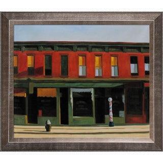 Edward Hopper 'Early Sunday Morning ' Hand Painted Framed Canvas Art