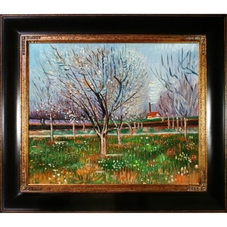 Vincent Van Gogh 'Orchard in Blossom (Plum Trees) ' Hand Painted Framed Canvas Art